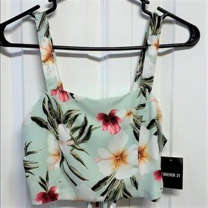 Forever 21 Halter Top Size S Mint Cream New
